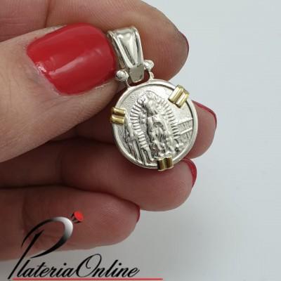 Medalla Redonda Plata y Oro...