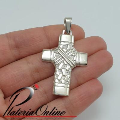 Cruz de plata 925 y oro...