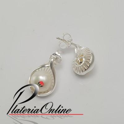 Aros perla con rallas de...