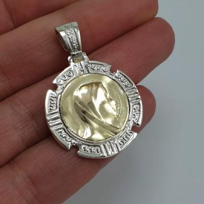 Medalla Virgen grande Plata...