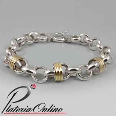 Pulsera Rolo Nº3 de Plata y...