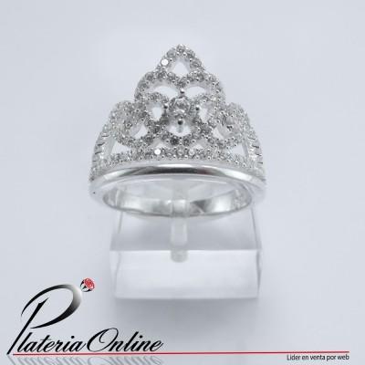 Anillo Corona Rusa de Plata...