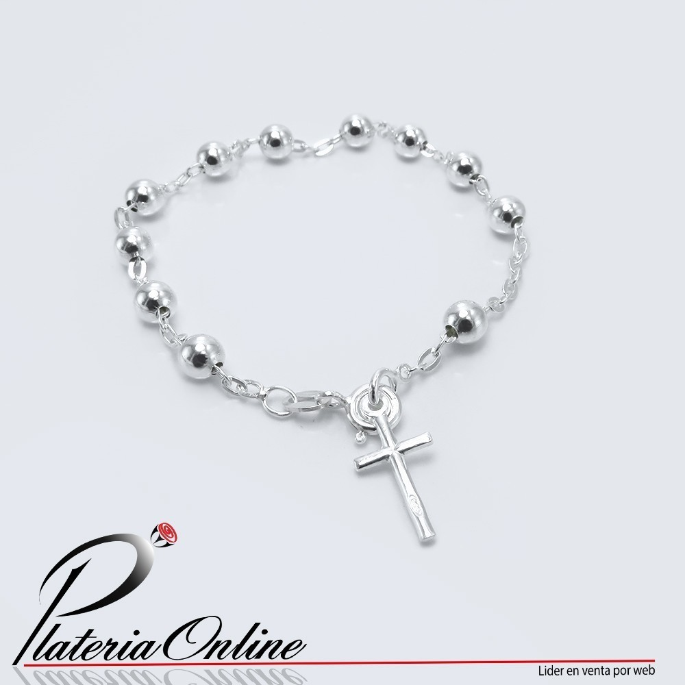 6fc4afddf334 pulsera-denario-rosario-con-cruz-de-equilibrio-bolita-de-6mm