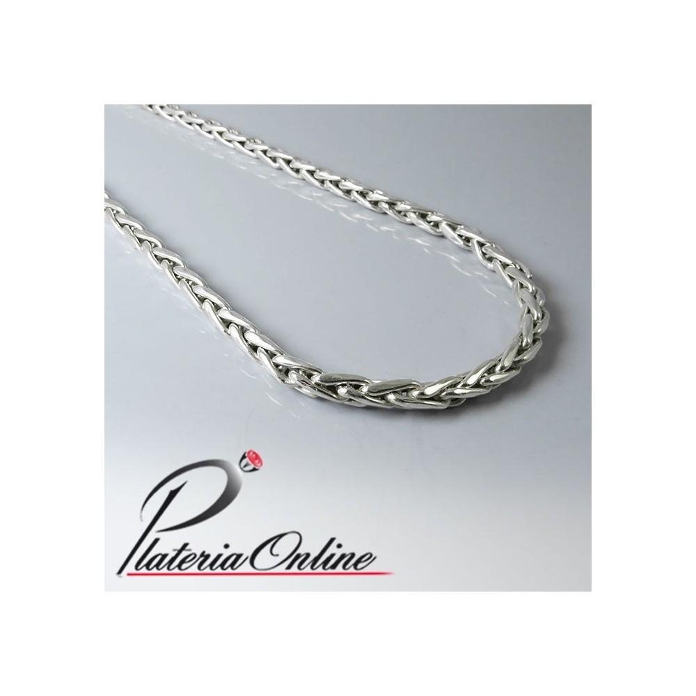 5088e0e5fb54 Cadena Espiga de Plata 925 Gruesa Compra Online Hacemos envios a todo el  mundo Largo de cadena 60 cm