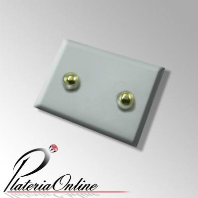 Aros Bolita de Plata 925 y Oro