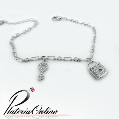 Pulsera Love lock de Plata...