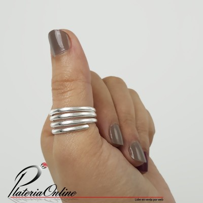 Anillo Resorte de Plata 925