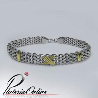Pulsera Payason X Plata y Oro
