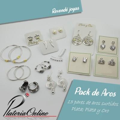 Pack 13 Aros Plata 925 y...