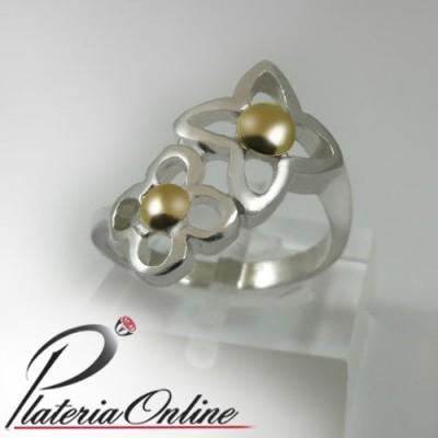 Anillo Vuitton de plata y oro
