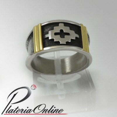 Anillo Cruz Pampa Relieve...