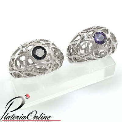 Anillo Bombe Calado Relieve...