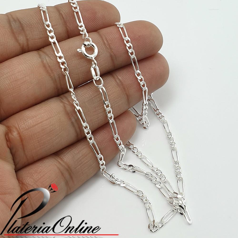 c8050e461b6a Cadena de Plata 925 Figaro 3x1 Hilo 0.50mm Largo de cadena 55 cm
