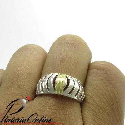 Anillo Zebra de Plata 925 y...