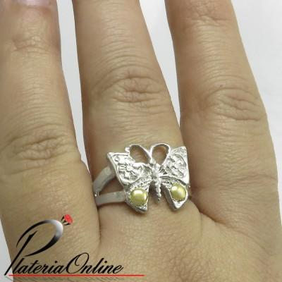 Anillo Mariposa Flor de...