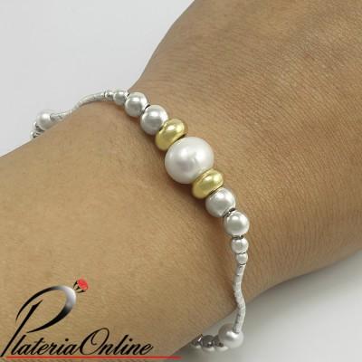 Pulsera con perlas...