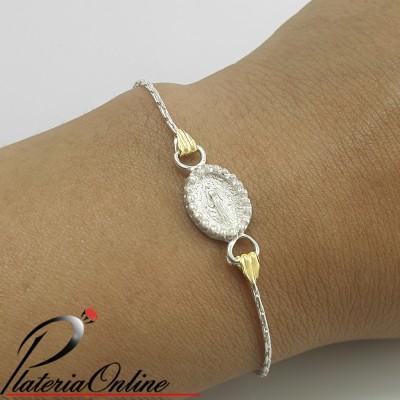 Pulsera Beauty Plata y Oro...