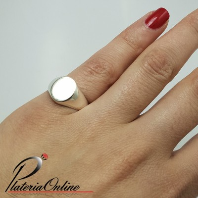 Anillo Sello Chico Oval de...