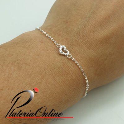 Pulsera fina mini Corazon...