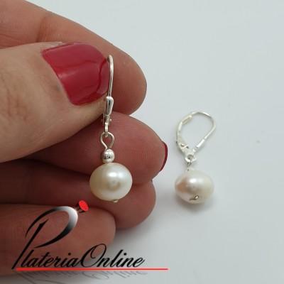 Aros perla con cierre Italiano