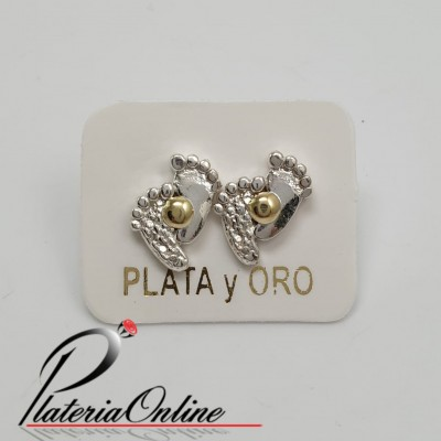 Aros Piecitos de Plata 925...