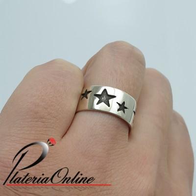 Anillo Cinta Estrellas de...