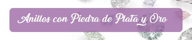 Anillos Con Piedra De Plata y Oro mercado libre